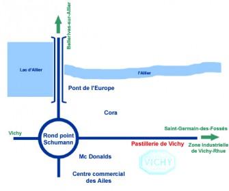 plan d'acces Pastille Vichy